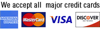 We accept visa, mastercard, american express and discover for Nevis Car Rentals